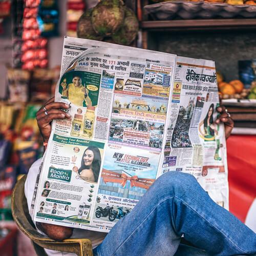 zeitung marketing werbung magazin anzeige